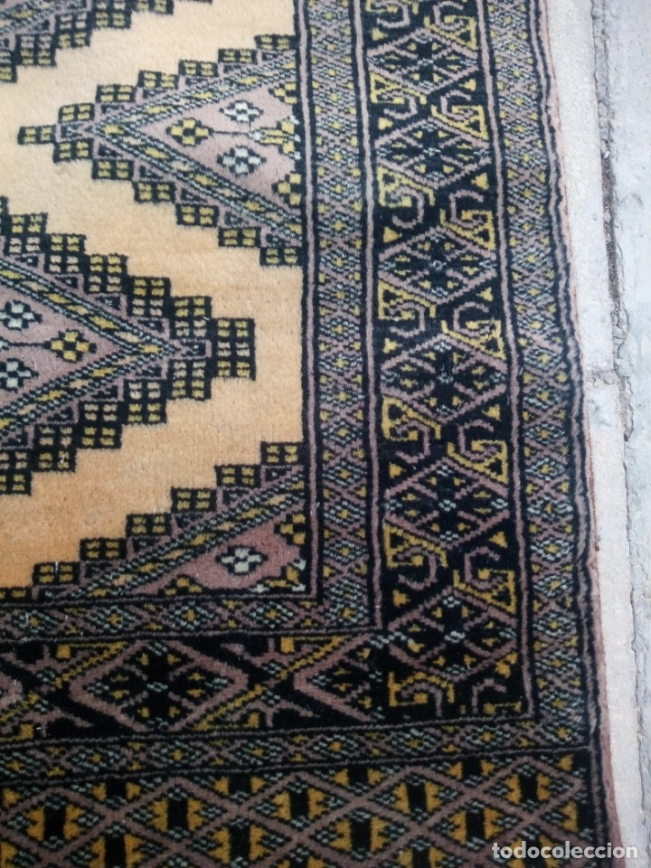 Antigüedades: Antigua alfombra persa de lana hecha a mano en tonos ocres.alfombra fina - Foto 6 - 175455159