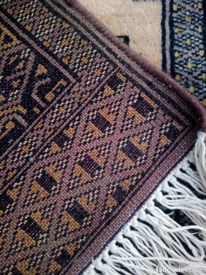 Antigüedades: Antigua alfombra persa de lana hecha a mano en tonos ocres.alfombra fina - Foto 7 - 175455159