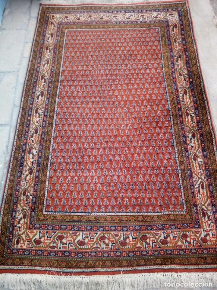 Antigüedades: Antigua alfombra persa,de lana hecha a mano en tonos rojos y dorados - Foto 3 - 175455599