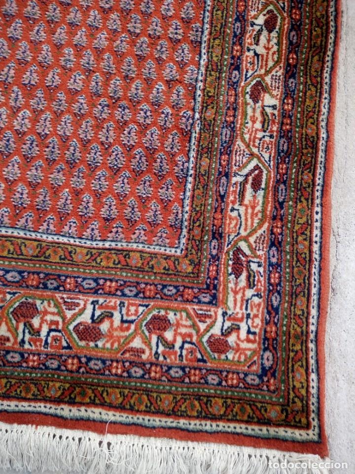 Antigüedades: Antigua alfombra persa,de lana hecha a mano en tonos rojos y dorados - Foto 6 - 175455599
