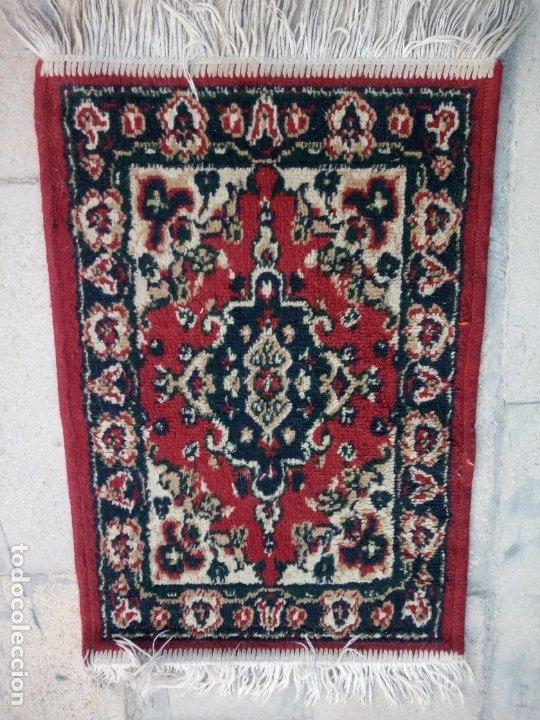 Antigüedades: Antiguo felpudo persa de lana pura hecho a mano. - Foto 2 - 175456943