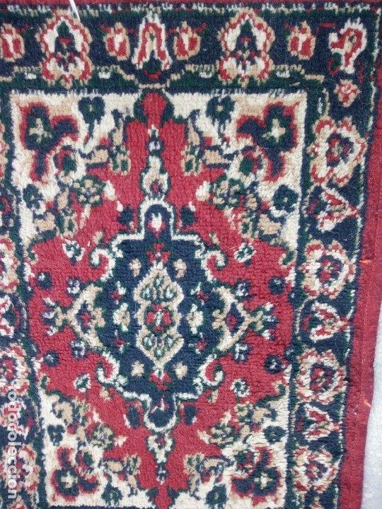 Antigüedades: Antiguo felpudo persa de lana pura hecho a mano. - Foto 3 - 175456943