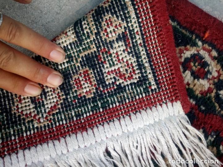 Antigüedades: Antiguo felpudo persa de lana pura hecho a mano. - Foto 4 - 175456943
