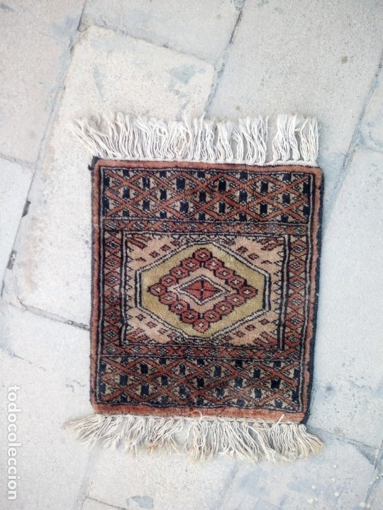 Antigüedades: Antiguo tapete alfombra tapiz persa,lana pura hecho a mano - Foto 4 - 175457243