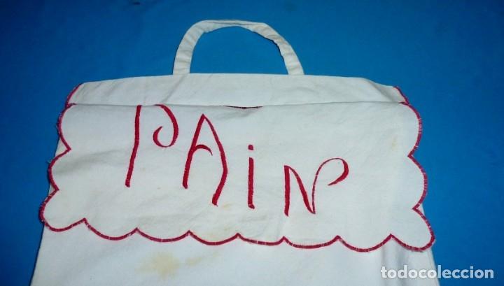Antigüedades: Antigua bolsa de pan con bordados. - Foto 2 - 175468993