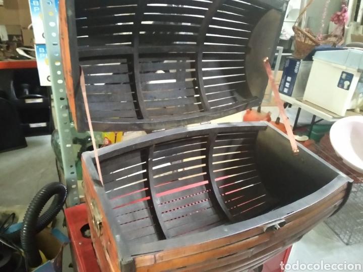 Antigüedades: Cofre - baul de caña - Foto 2 - 175491788