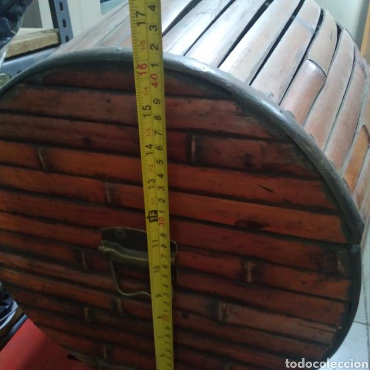 Antigüedades: Cofre - baul de caña - Foto 3 - 175491788