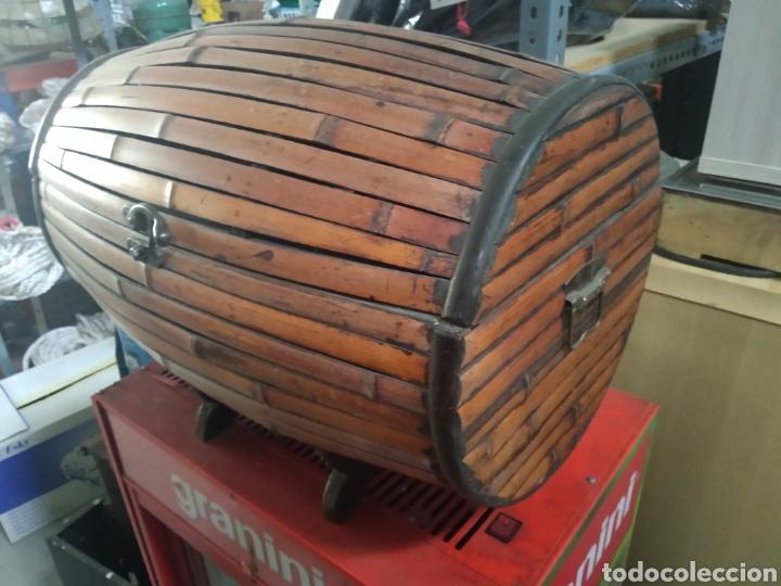 Antigüedades: Cofre - baul de caña - Foto 7 - 175491788