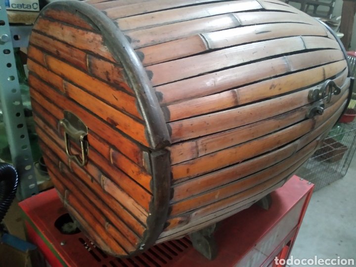 COFRE - BAUL DE CAÑA (Antigüedades - Muebles Antiguos - Baúles Antiguos)