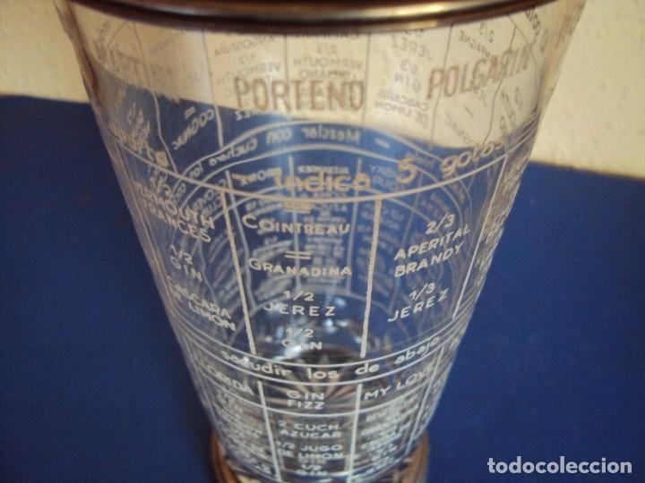 Antigüedades: (ANT-190908)COCTELERA DE CRISTAL SOPLADO. TAPA Y BASE DE PLATA. CIRCA 1950 - Foto 6 - 175500569