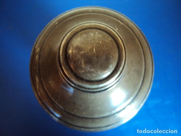 Antigüedades: (ANT-190908)COCTELERA DE CRISTAL SOPLADO. TAPA Y BASE DE PLATA. CIRCA 1950 - Foto 7 - 175500569