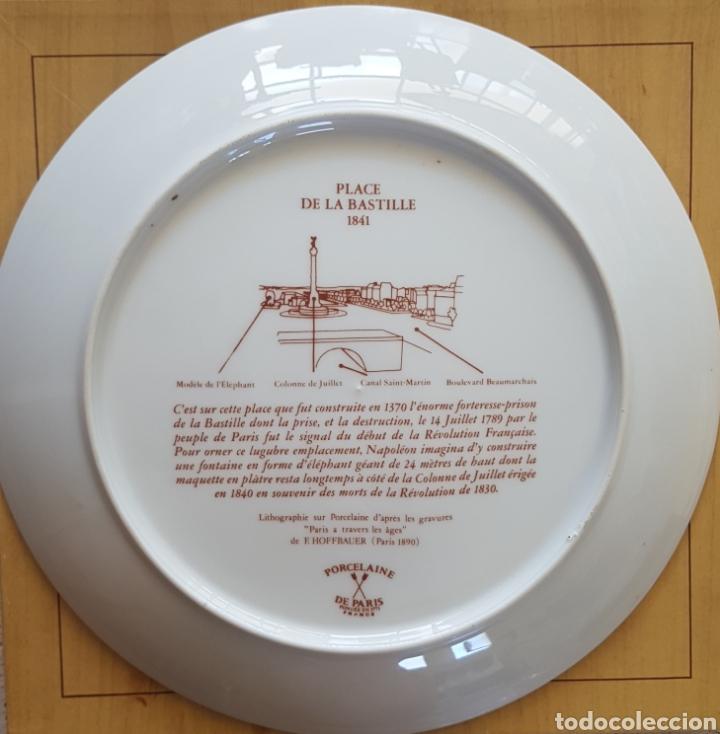 Antigüedades: Plaza de la Bastilla, París - Plato en Porcelana de París.26cm. - Foto 2 - 175496164