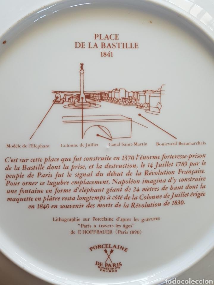 Antigüedades: Plaza de la Bastilla, París - Plato en Porcelana de París.26cm. - Foto 3 - 175496164