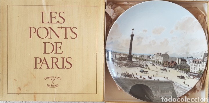 Antigüedades: Plaza de la Bastilla, París - Plato en Porcelana de París.26cm. - Foto 5 - 175496164