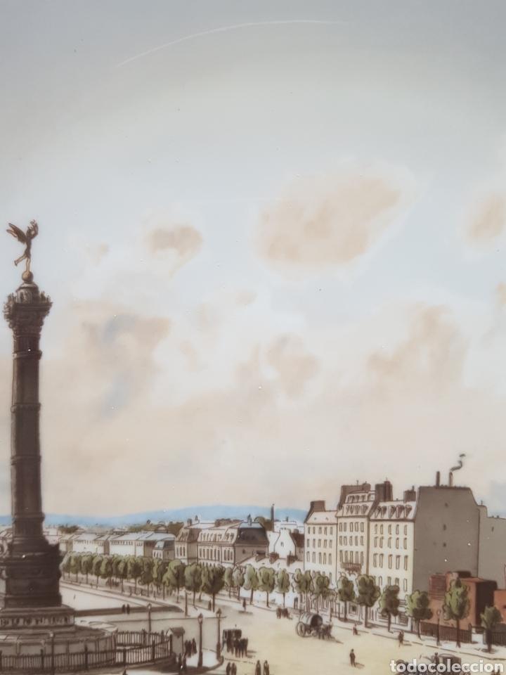 Antigüedades: Plaza de la Bastilla, París - Plato en Porcelana de París.26cm. - Foto 7 - 175496164
