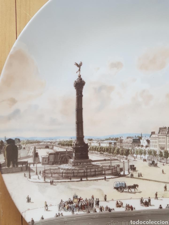 Antigüedades: Plaza de la Bastilla, París - Plato en Porcelana de París.26cm. - Foto 8 - 175496164