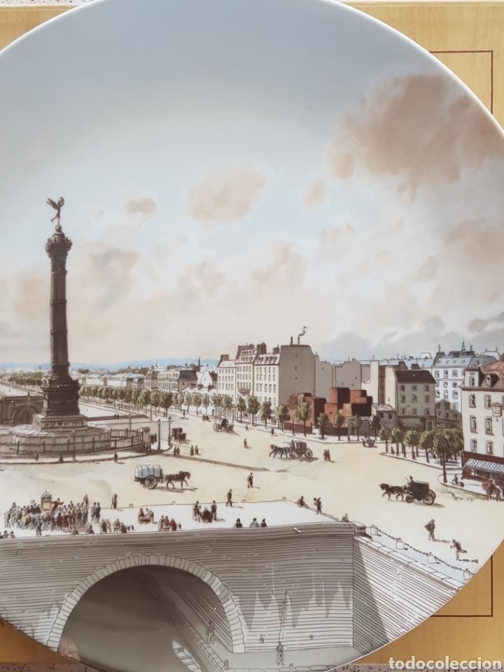 Antigüedades: Plaza de la Bastilla, París - Plato en Porcelana de París.26cm. - Foto 9 - 175496164