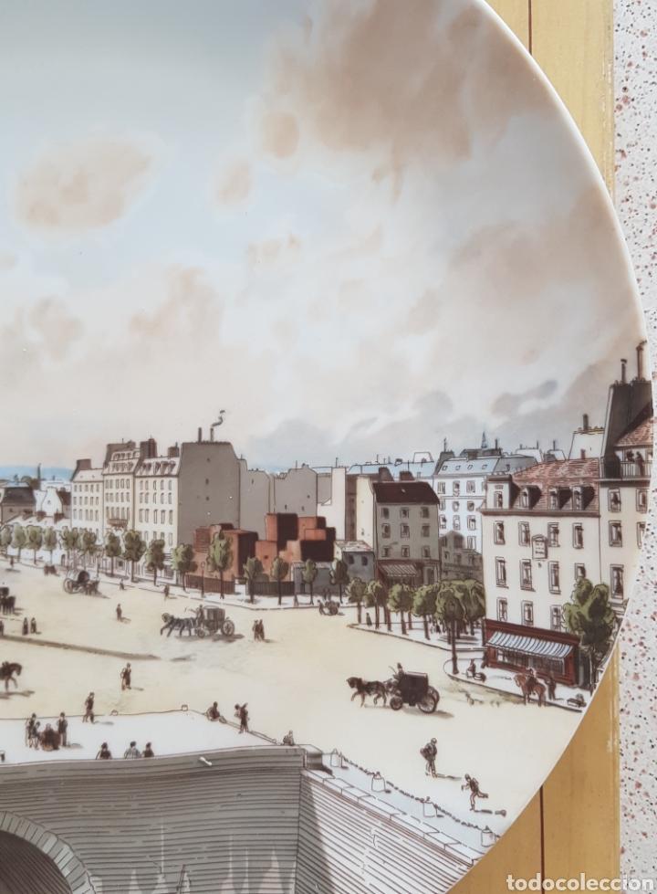 Antigüedades: Plaza de la Bastilla, París - Plato en Porcelana de París.26cm. - Foto 10 - 175496164