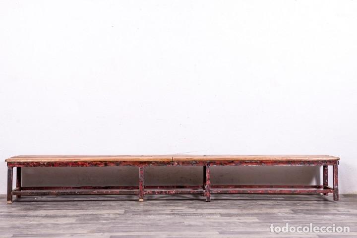 Antigüedades: Banco Industrial Restaurado El Torbiscal - Foto 5 - 175506985