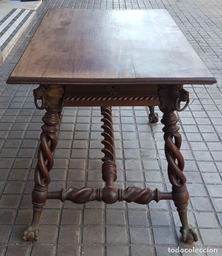 Antigüedades: MESA HUNZINGER CON PATAS DE GARRA. MADERA DE CAOBA. INGLESA. SIGLO XIX. - Foto 10 - 175514674