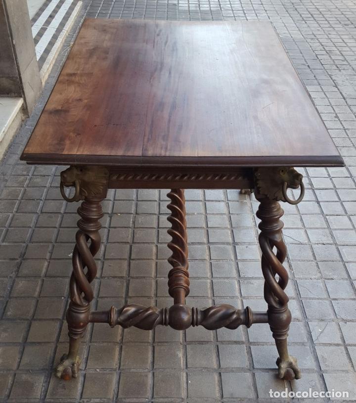 Antigüedades: MESA HUNZINGER CON PATAS DE GARRA. MADERA DE CAOBA. INGLESA. SIGLO XIX. - Foto 16 - 175514674