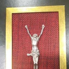 Antigüedades: CRISTO CRUCIFICADO EN LA CRUZ ( PLATA ). Lote 175518038
