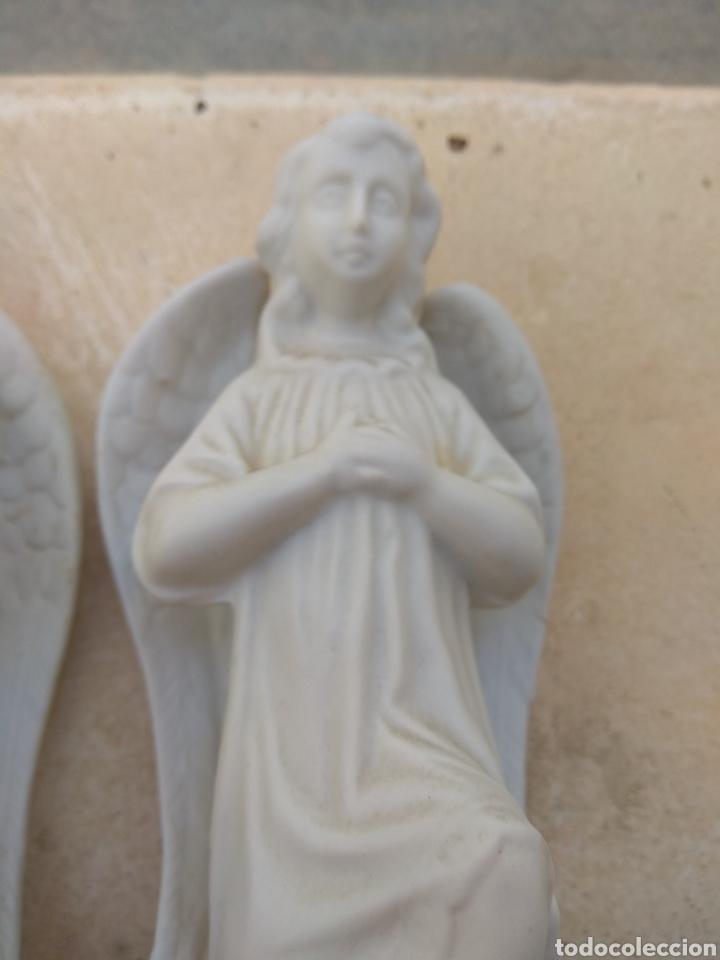 Antigüedades: Pareja de Ángeles de Porcelana Biscuit - Leer Descripción - - Foto 6 - 175543209