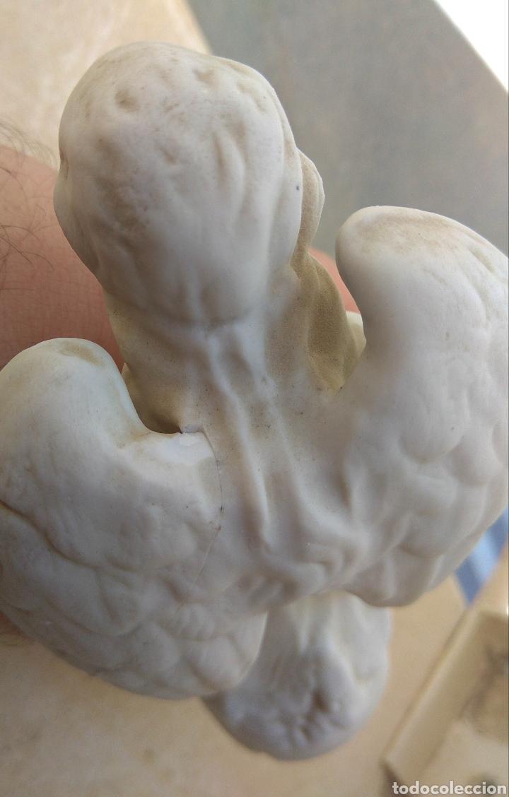 Antigüedades: Pareja de Ángeles de Porcelana Biscuit - Leer Descripción - - Foto 10 - 175543209
