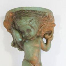 Antiquités: MENSULA CON ANGEL EN CERAMICA. Lote 175564059
