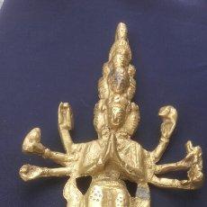 Antigüedades: FIGURA INDU DE BRONCE.. Lote 175569203