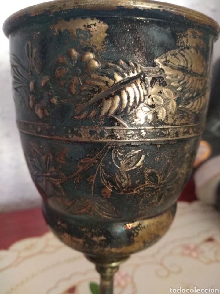 Antigüedades: MUY DIFÍCIL ( CÁLIZ PLATA S. XIX PUNZONADO EN LA BASE ).VER FOTOS. MÁS ARTÍCULOS PLATA EN MÍ PERFIL. - Foto 3 - 166643829