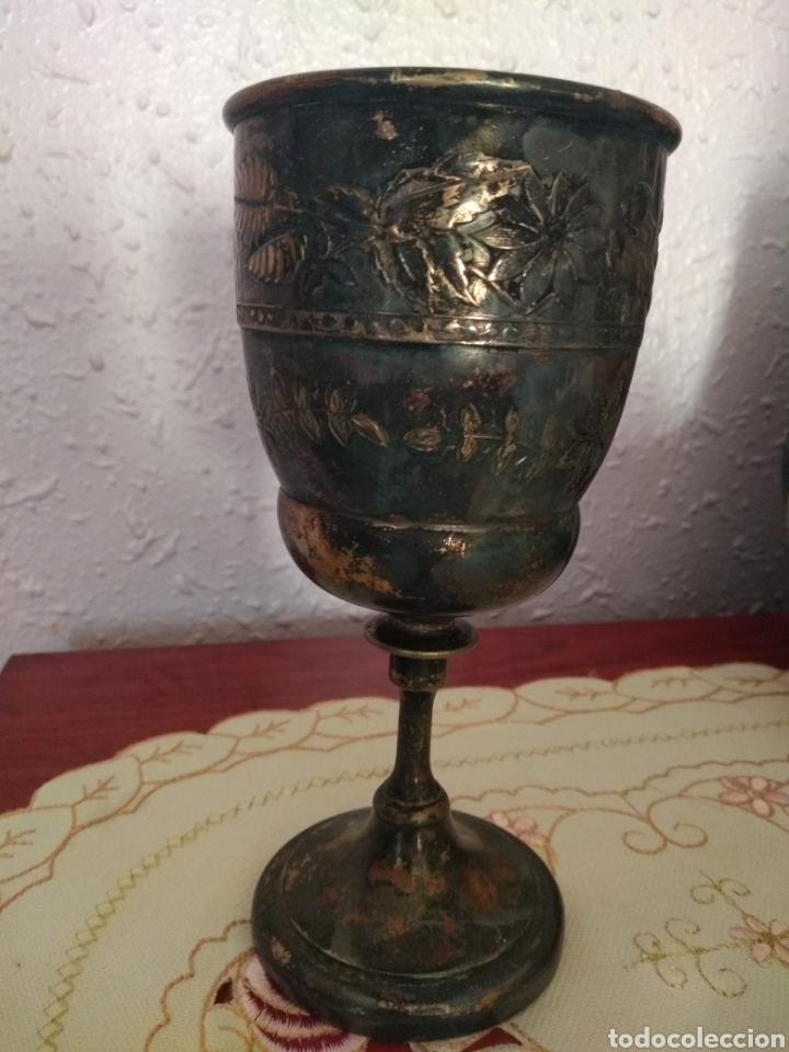 Antigüedades: MUY DIFÍCIL ( CÁLIZ PLATA S. XIX PUNZONADO EN LA BASE ).VER FOTOS. MÁS ARTÍCULOS PLATA EN MÍ PERFIL. - Foto 4 - 166643829