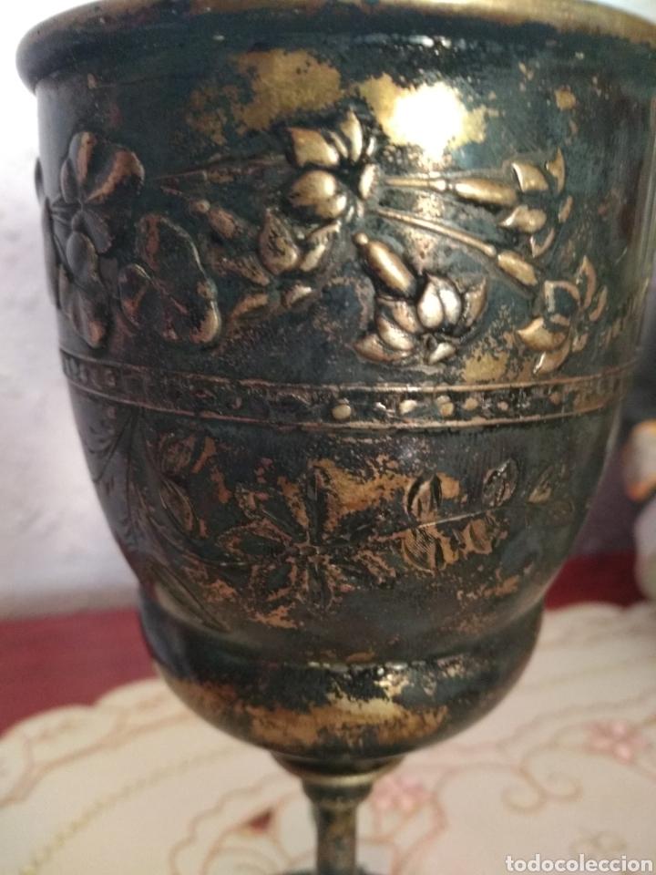 Antigüedades: MUY DIFÍCIL ( CÁLIZ PLATA S. XIX PUNZONADO EN LA BASE ).VER FOTOS. MÁS ARTÍCULOS PLATA EN MÍ PERFIL. - Foto 5 - 166643829
