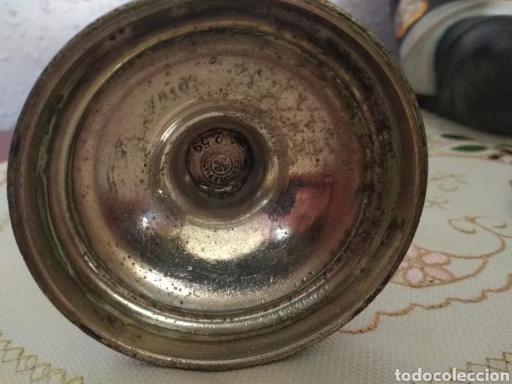Antigüedades: MUY DIFÍCIL ( CÁLIZ PLATA S. XIX PUNZONADO EN LA BASE ).VER FOTOS. MÁS ARTÍCULOS PLATA EN MÍ PERFIL. - Foto 6 - 166643829