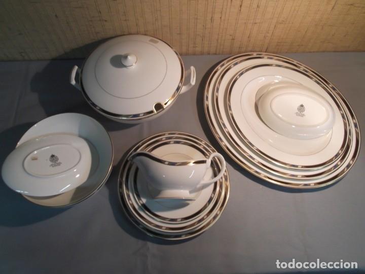 Antigüedades: Vajilla y juego de café inglesa.Firmada: Raffles.Royal Worcester 1984,Fine Bone China - Foto 5 - 175572604