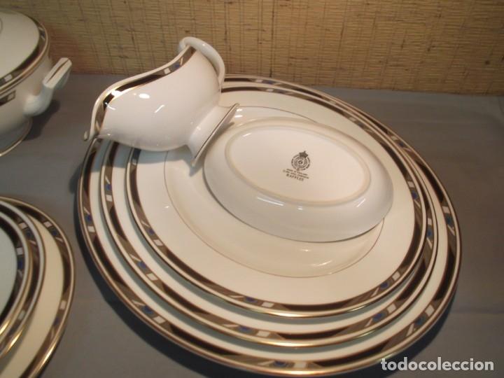 Antigüedades: Vajilla y juego de café inglesa.Firmada: Raffles.Royal Worcester 1984,Fine Bone China - Foto 2 - 175572604