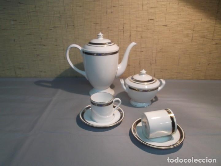 Antigüedades: Vajilla y juego de café inglesa.Firmada: Raffles.Royal Worcester 1984,Fine Bone China - Foto 3 - 175572604