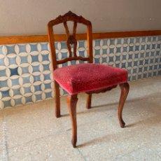 Antigüedades: SILLA ANTIGUA DE RESPALDO BAJO, PARA RESTAURAR. Lote 175574253