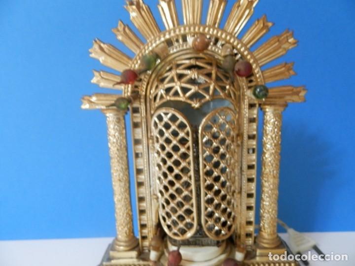 Antigüedades: VIRGEN DE BEGOÑA CAPILLA ANTIGUA DE LA VIRGEN DE BEGOÑA. LUZ Y MUSICAL - Foto 4 - 175575113