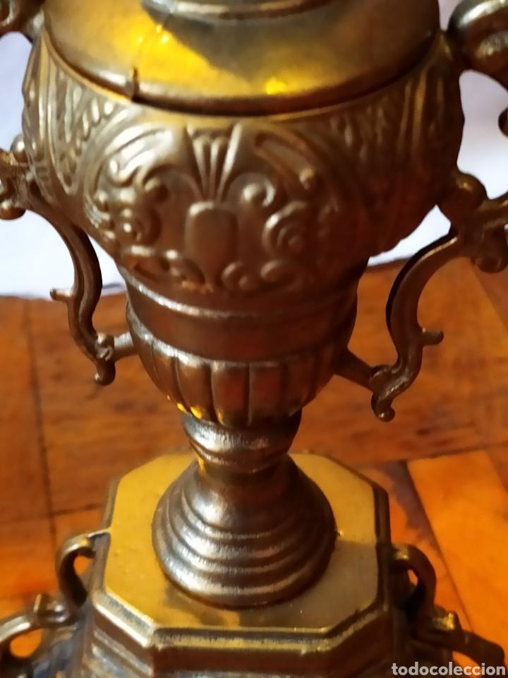 Antigüedades: PAREJA DE CANDELABROS DE BRONCE DE CINCO VELAS, ÚNICOS, VER - Foto 18 - 175585909