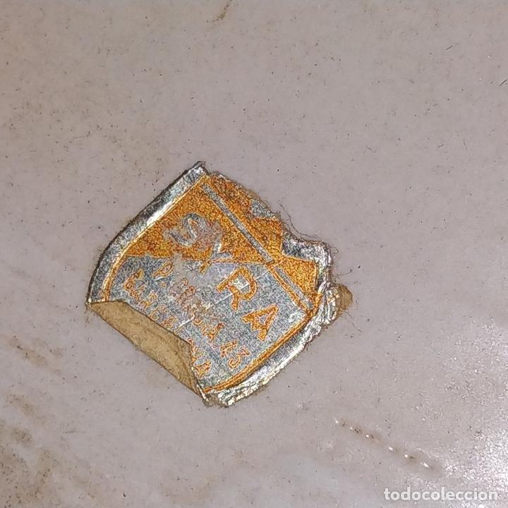 Antigüedades: GRAN PLATO. CERÁMICA ESMALTADA A MANO. ESPAÑA. PRINCIPOS SIGLO XX - Foto 2 - 175590927