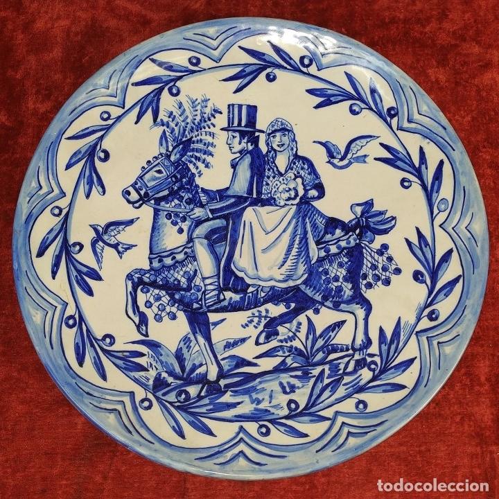 Antigüedades: GRAN PLATO. CERÁMICA ESMALTADA A MANO. ESPAÑA. PRINCIPOS SIGLO XX - Foto 9 - 175590927