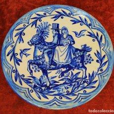 Antigüedades: GRAN PLATO. CERÁMICA ESMALTADA A MANO. ESPAÑA. PRINCIPOS SIGLO XX. Lote 175590927