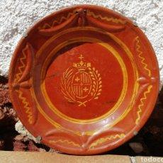 Antigüedades: LA BISBAL, MAGNÍFICO PLATO DECORACIÓN. Lote 175595097