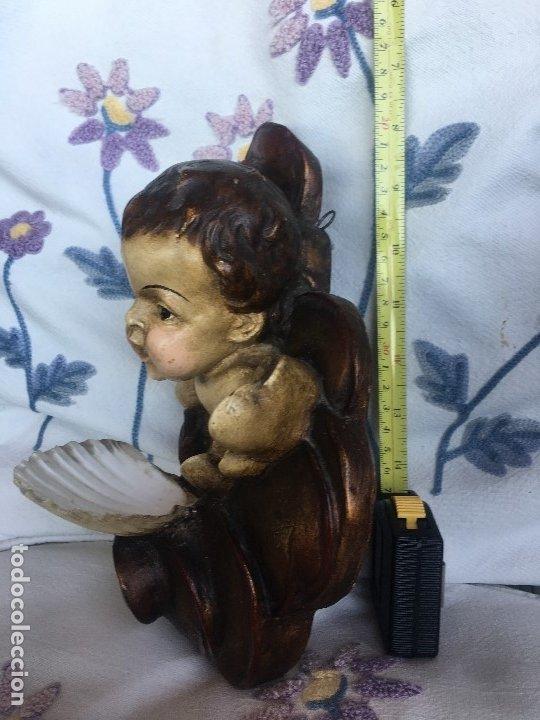 Antigüedades: Angelito con benditera de concha - Foto 5 - 175624332