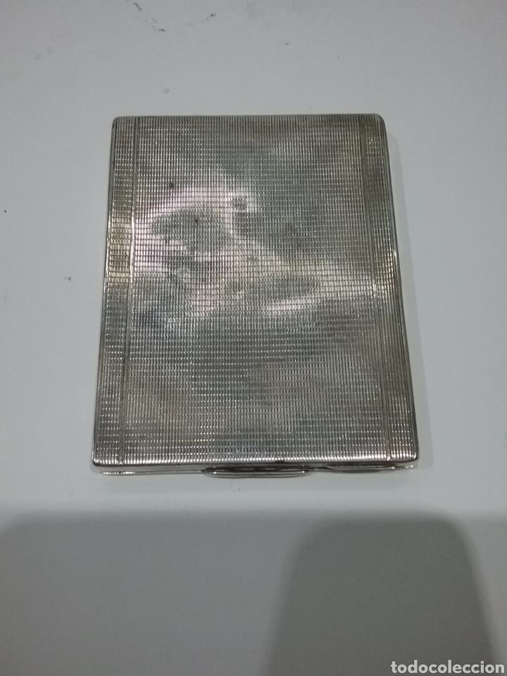 Antigüedades: Pitillera en plata y grabada por dentro.Peso 105 gr.108 - Foto 2 - 175625580
