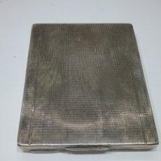 Antigüedades: PITILLERA EN PLATA Y GRABADA POR DENTRO.PESO 105 GR.108. Lote 175625580