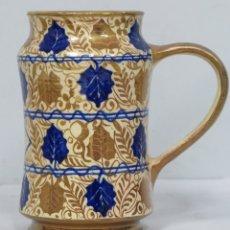 Antigüedades: JARRA DE CERVEZA. KIRIN BEERMUG COLLECTION. SIGUIENDO MODELOS PATERNA SIGLO XIV-XV. FIRMADA L.C. Lote 175625850