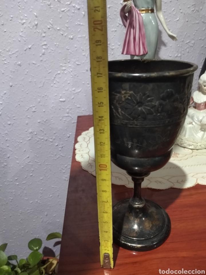Antigüedades: MUY DIFÍCIL ( CÁLIZ PLATA S. XIX PUNZONADO EN LA BASE ).VER FOTOS. MÁS ARTÍCULOS PLATA EN MÍ PERFIL. - Foto 14 - 166643829