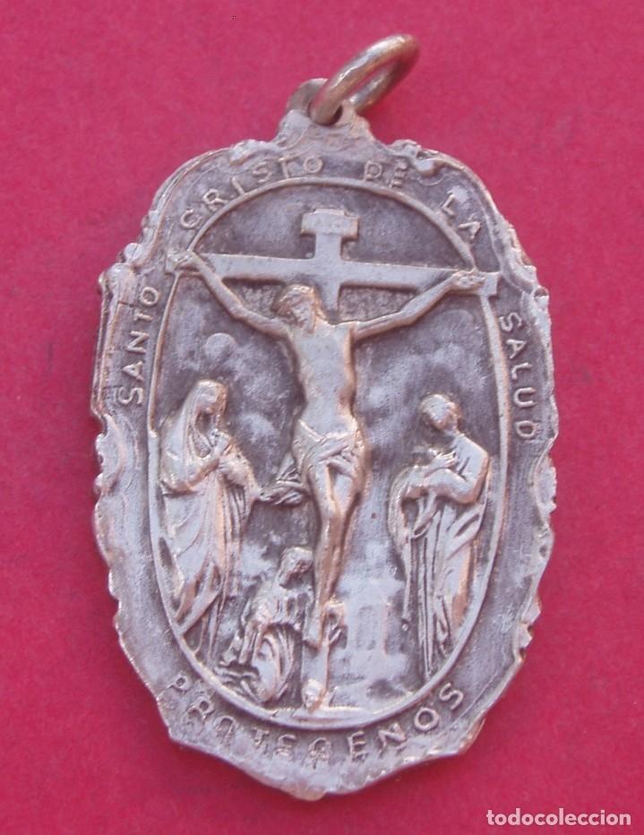 MEDALLA ANTIGUA HERMSANTO CRISTO DE LA SALUD EN LA IGLESIA DE SAN JUAN. PUERTO RICO. AÑO 1753 - 1947 (Antigüedades - Religiosas - Medallas Antiguas)